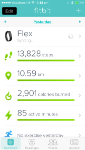Fitbit app for iOS