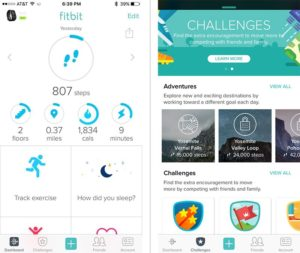 Fitbit's app offers easy-to-read stats as well as challenges if you and your friends want to get competitive.